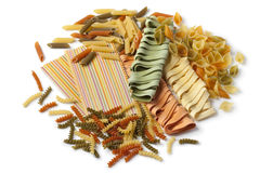 Variety of colorful Italian pasta Royalty Free Stock Photography