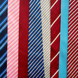 Variety of colorful  neckties Royalty Free Stock Images