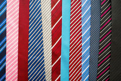Variety of colorful  neckties Royalty Free Stock Image