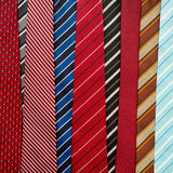 Variety of colorful  neckties Stock Photos