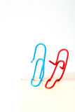 Variety of colorful paper clips,  family talk together concept Royalty Free Stock Image