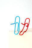 Variety of colorful paper clips,  family talk together concept Royalty Free Stock Photography