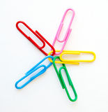 Variety of colorful paper clips :  question mark shape Stock Photography