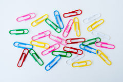 Variety of colorful paper clips Stock Photography