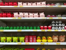 Variety colorful of piggy banks Stock Photo
