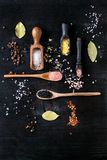 Variety of colorful salt Royalty Free Stock Photos