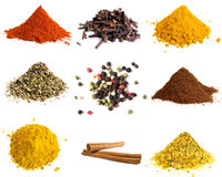 Variety of colorful spices Royalty Free Stock Photos
