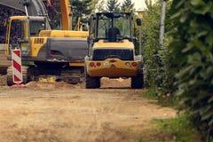 Variety of Construction Heavy Machinery Royalty Free Stock Photo