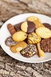 Variety of Cookies on plate Stock Images