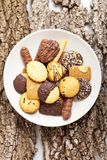 Variety of Cookies on plate Royalty Free Stock Photo