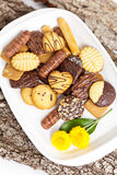 Variety of Cookies on plate Stock Photography