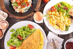 variety of cooking egg Royalty Free Stock Images