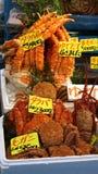 Variety of crabs and shellfish selling in tsukiji fish mark Royalty Free Stock Photo