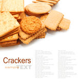 Variety of Cracker and biscuit Royalty Free Stock Images