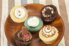 Variety of Cup cakes Royalty Free Stock Photo