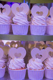 Variety of cupcakes from a dessert buffet at a wedding Stock Photography