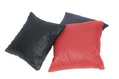 Variety of cushions red and black Stock Photography