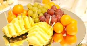 A variety of delicious culinary products stock footage