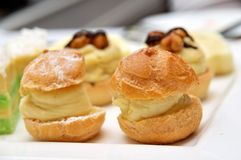 Variety of delicious desserts and pastries Stock Photography