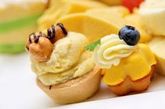Variety of delicious desserts and pastries Stock Image