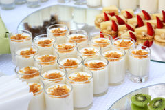 Variety of dessert on the table in a cafe Stock Image