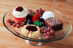 Variety of desserts Stock Photo