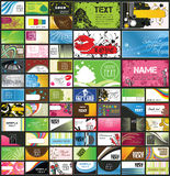 Variety of detailed business cards Royalty Free Stock Images