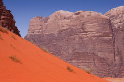 A variety of different colors in Wadi Rum desert Royalty Free Stock Photo