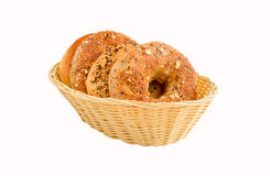 A variety of different kind of bagels Royalty Free Stock Photos