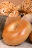 Variety of different types of bagels Stock Photo