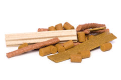 Variety of dog treats cutout Stock Photography