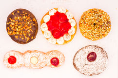 Variety of donut from top Royalty Free Stock Photo