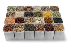 Variety of dried beans and lentils Royalty Free Stock Photo