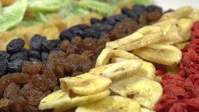 Variety of Dried Fruits and Berries stock footage