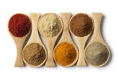 Variety of dried herbs and spices Stock Photo