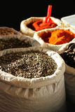 Variety of Dried Spice Stock Photography