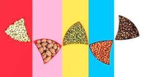 Creative shooting dried fruit. A variety of dried t, a variety of colors, different combinations of shooting stock illustration