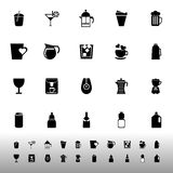 Variety drink icons on white background Stock Photo