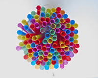 Variety of drinking straws Royalty Free Stock Photo