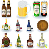 Variety Of Drinks Royalty Free Stock Photos
