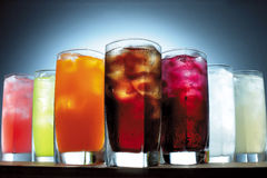 Variety of drinks Stock Photos