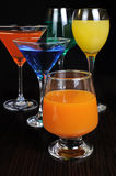 Variety of drinks Stock Photo