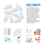 Variety of drugs and pills, wide range Stock Photography