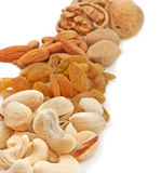 Variety of dry fruits Royalty Free Stock Photo