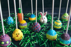 Variety of Easter cake pops served Stock Images