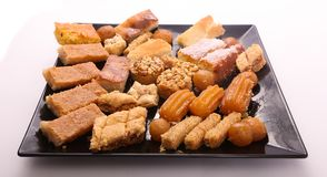 Eastern sweets. A variety of eastern sweets Royalty Free Stock Images