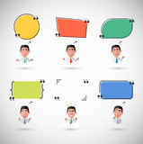 Variety of Emotions Man with Speech Bubble Royalty Free Stock Photography