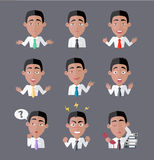Variety of Emotions Office Worker Stock Images