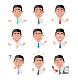 Variety of Emotions Office Worker Stock Photos