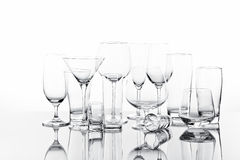 Drinking Glasses Royalty Free Stock Photography